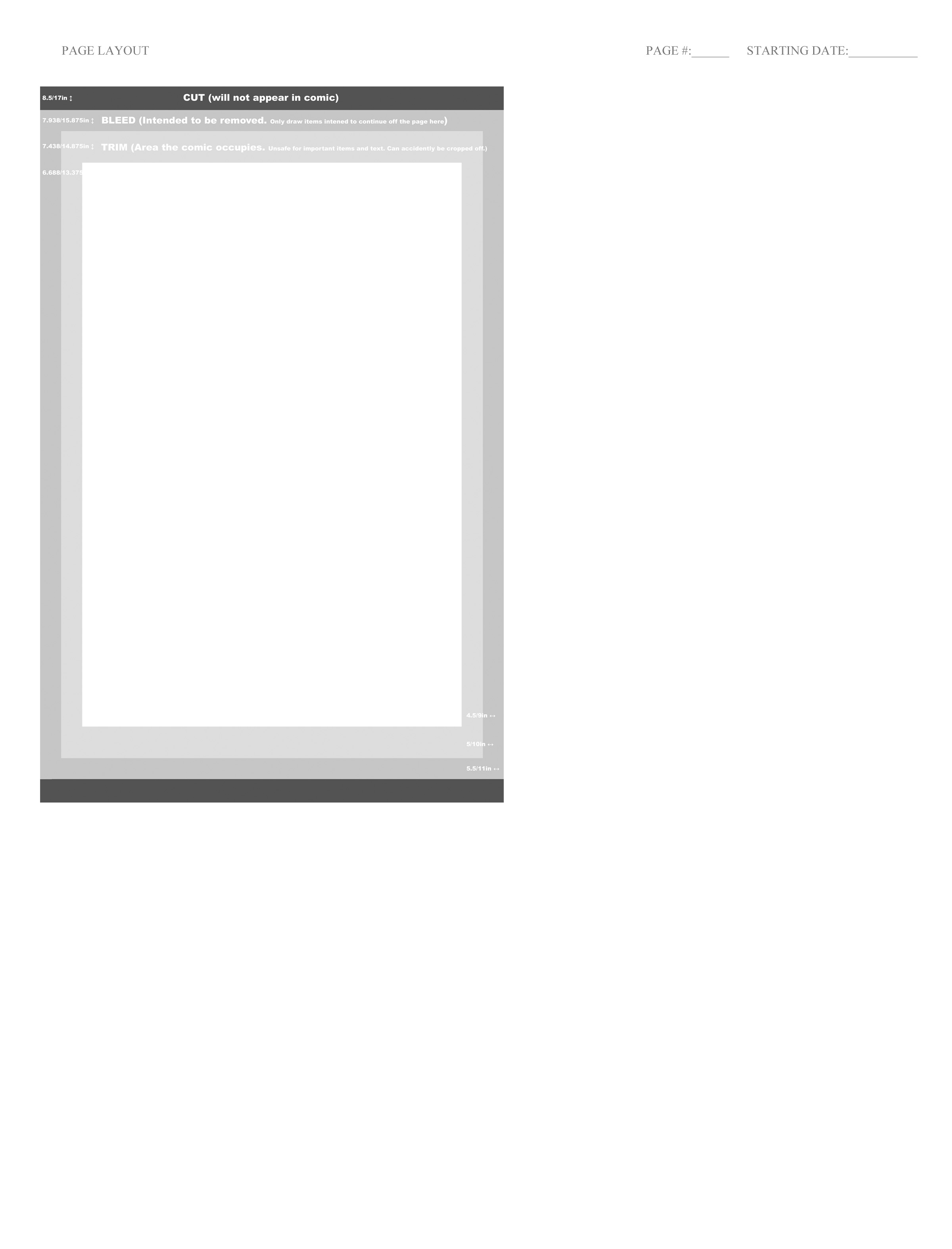 Comic Page Layout Template – Last of the Polar Bears
