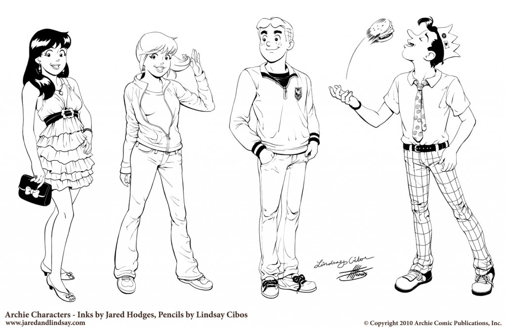 Archie Character Sheet (inks)