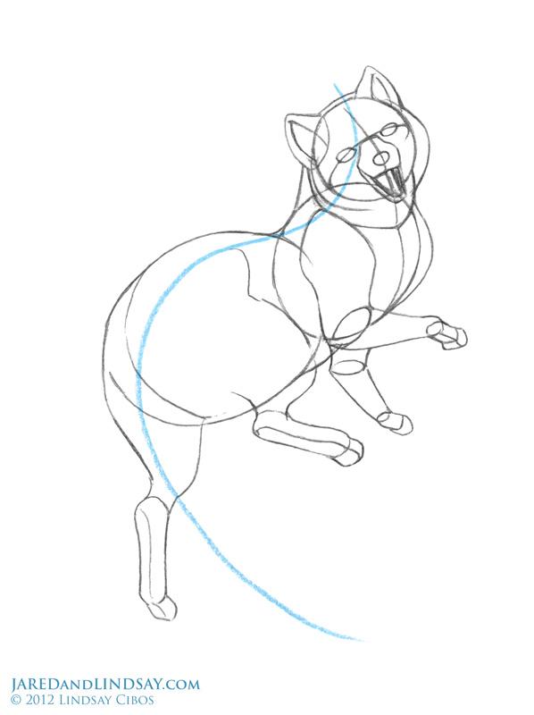 how to draw fox furry